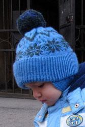 Вязаная шапочка от базилик