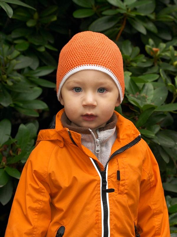 Вязаная летняя детская шапка