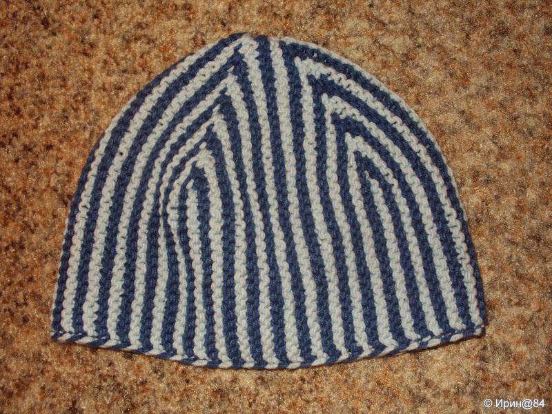 Вязаная шапка для взрослого мужчины