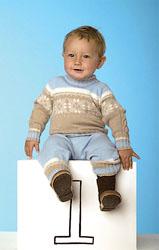 свитер с норвежским узором на мальчика
