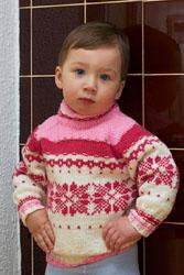 Жаккардовый свитер реглан