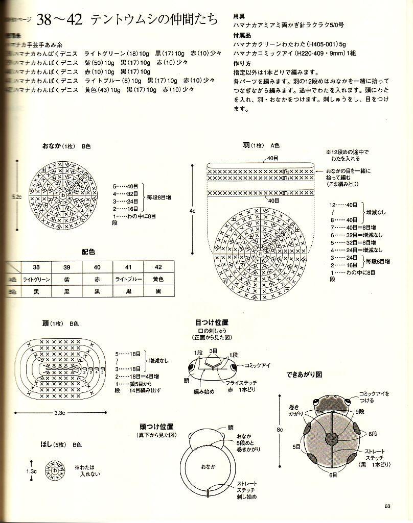Схема вязания крючком божьей коровки 96