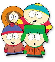 Герои South Park связанные крючком
