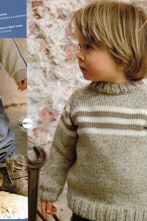 Описание вязания спицами (возраст 2,5-4 года, размер 92-98).  Принцип вязание реглана сверху.