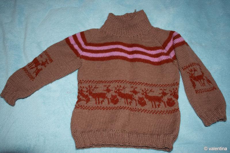 Вязание спицами для женщин.  Описание: вяжем свитер для девочки.