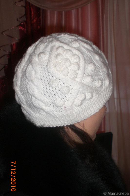Пошаговое вязание шапки спицами