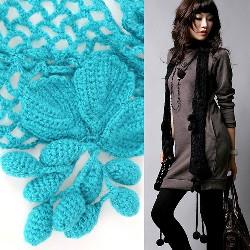 Описание: схема вязания шарф вивьен крючком.