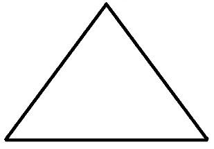 Колючка смешарика Ежика в виде треугольника