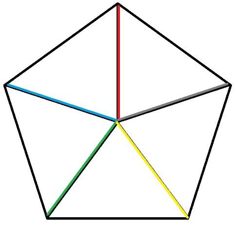 Вязаные смешарики. Схема соединения пяти колючек