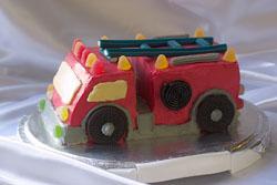Детский торт Пожарная машина