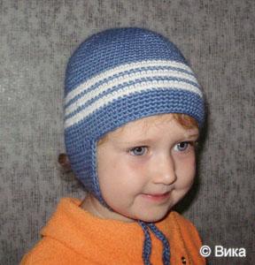 Вязаные детские шапки шляпки береты косынки и шарфы вязаные крючком и спицами