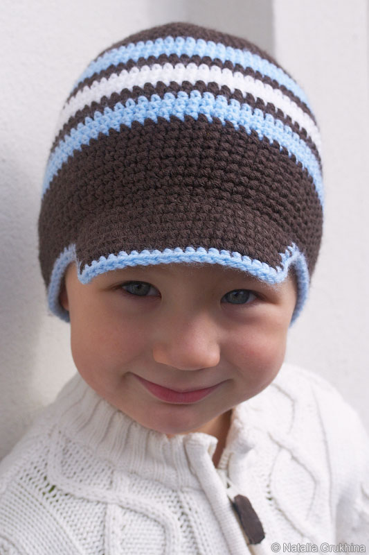 Для вязания шапки крючком нам