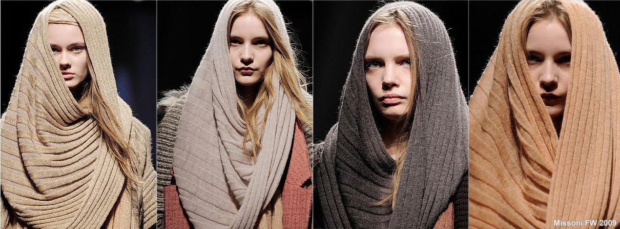 шарфа - не очень широкий,