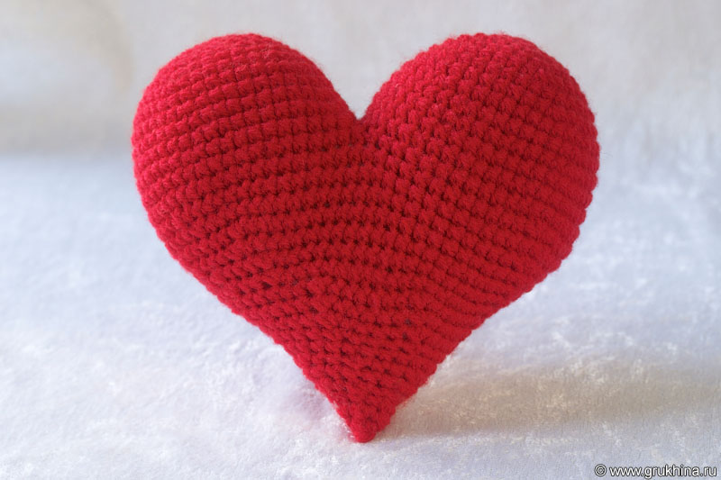 Чтобы связать крючком сердце