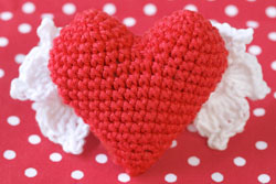 small 3d heart crochet tutorial