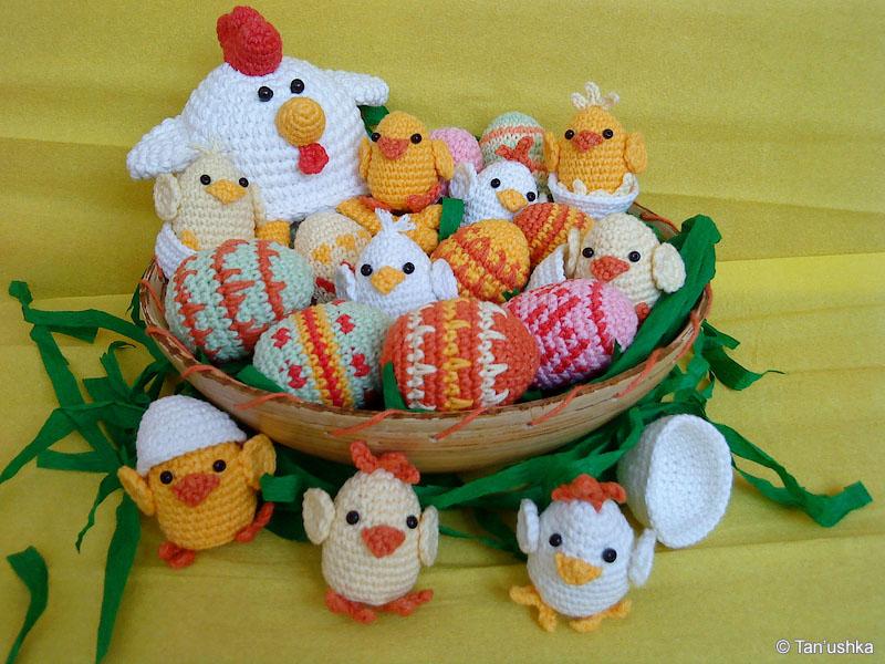 Курочка с цыплятами от Tan'