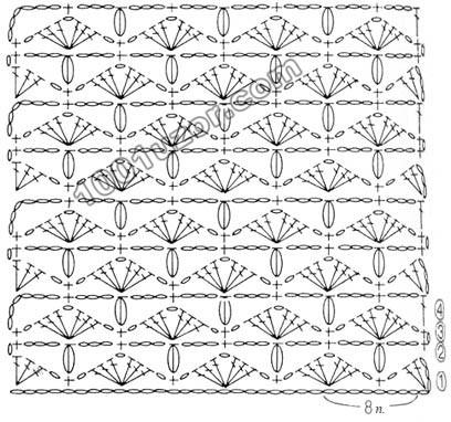 Схема вязания верхней части