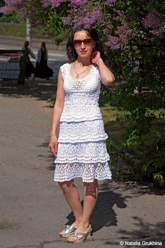 Вязаное платье по мотивам