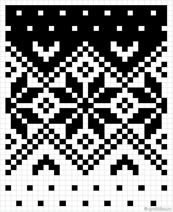 Схема норвежского узора из