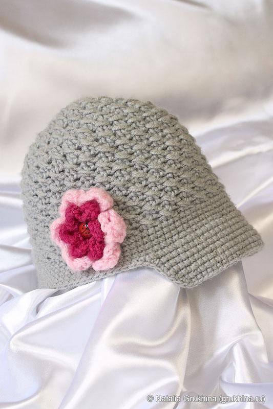 Для вязания шапочки крючком