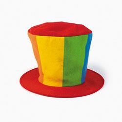 Шляпа-цилиндр для клоуна