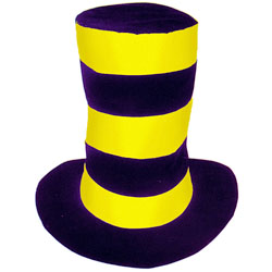 Шляпа-цилиндр разноцветная