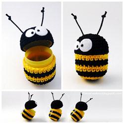Пчелка-амигуруми, связанная крючком