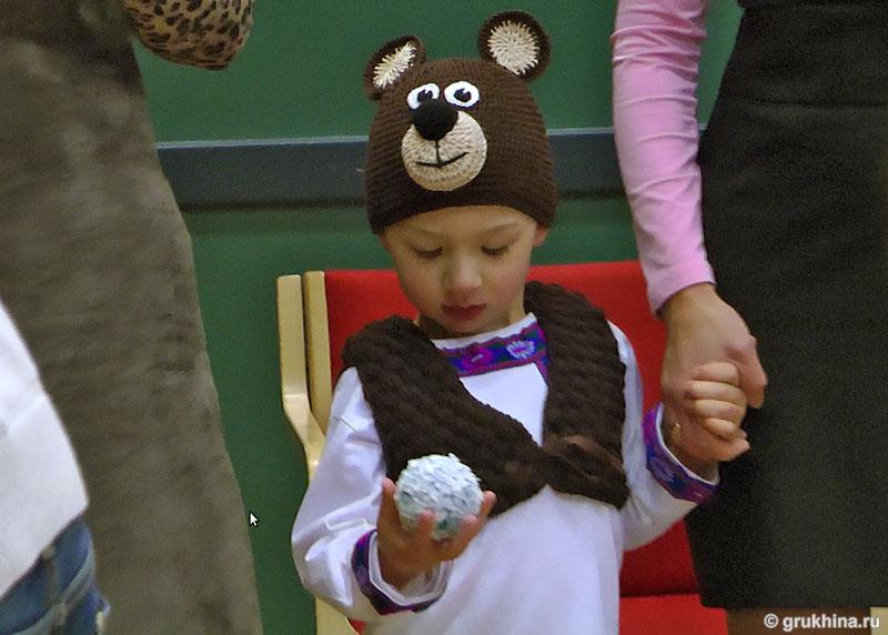 Шапка медведя на новый год своими руками