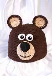 Вязаная шапка Медвежонок крючком