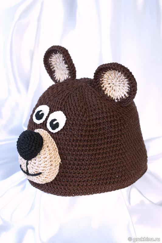 Вязаная шапка Медвежонок