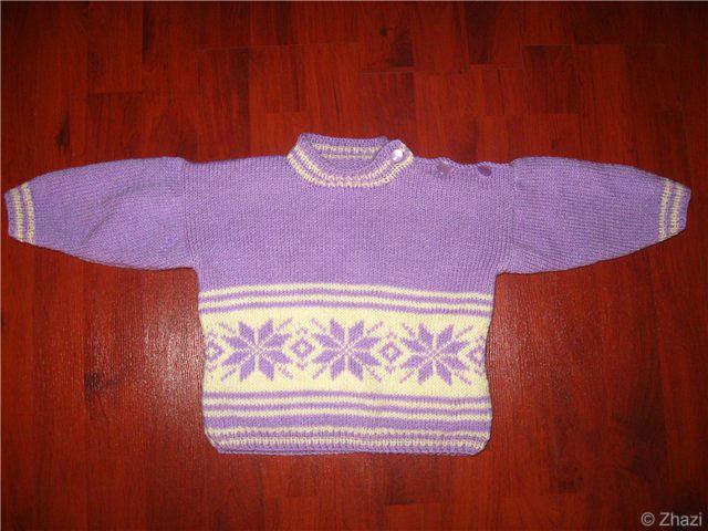 Описание: вязки мужского свитера крупной вязкой.