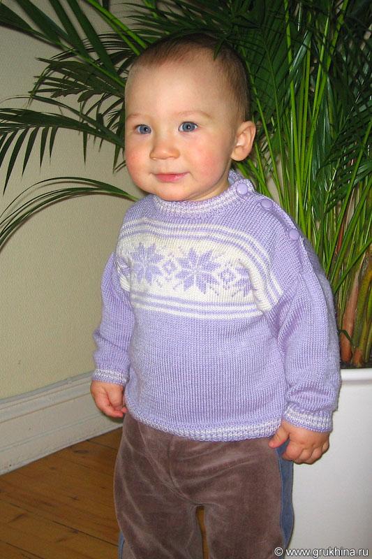 Вязаный свитер с норвежским