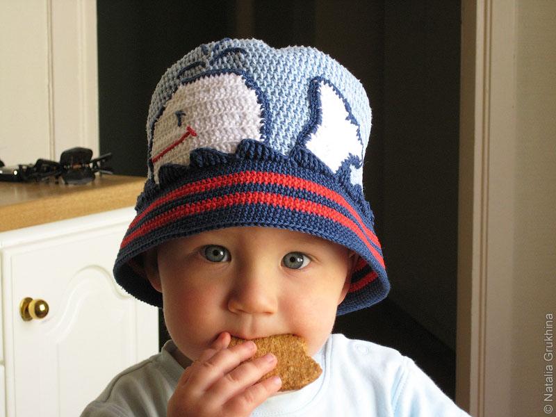 Вязаная шапка на весну-осень из хлопка - Шапочки и панамки - Схемы