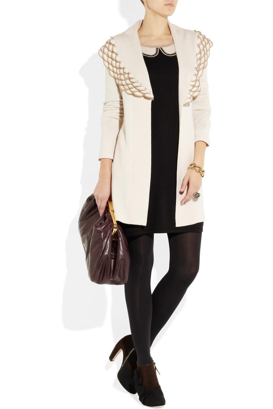 Стильное вязаное платье от Шанель. Вязание 34