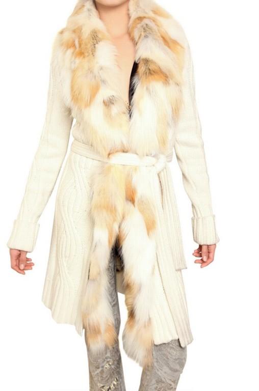 Модный портал вязаные куртки с мехом.  Автор: Malaramar.  Артикул: 986657343.