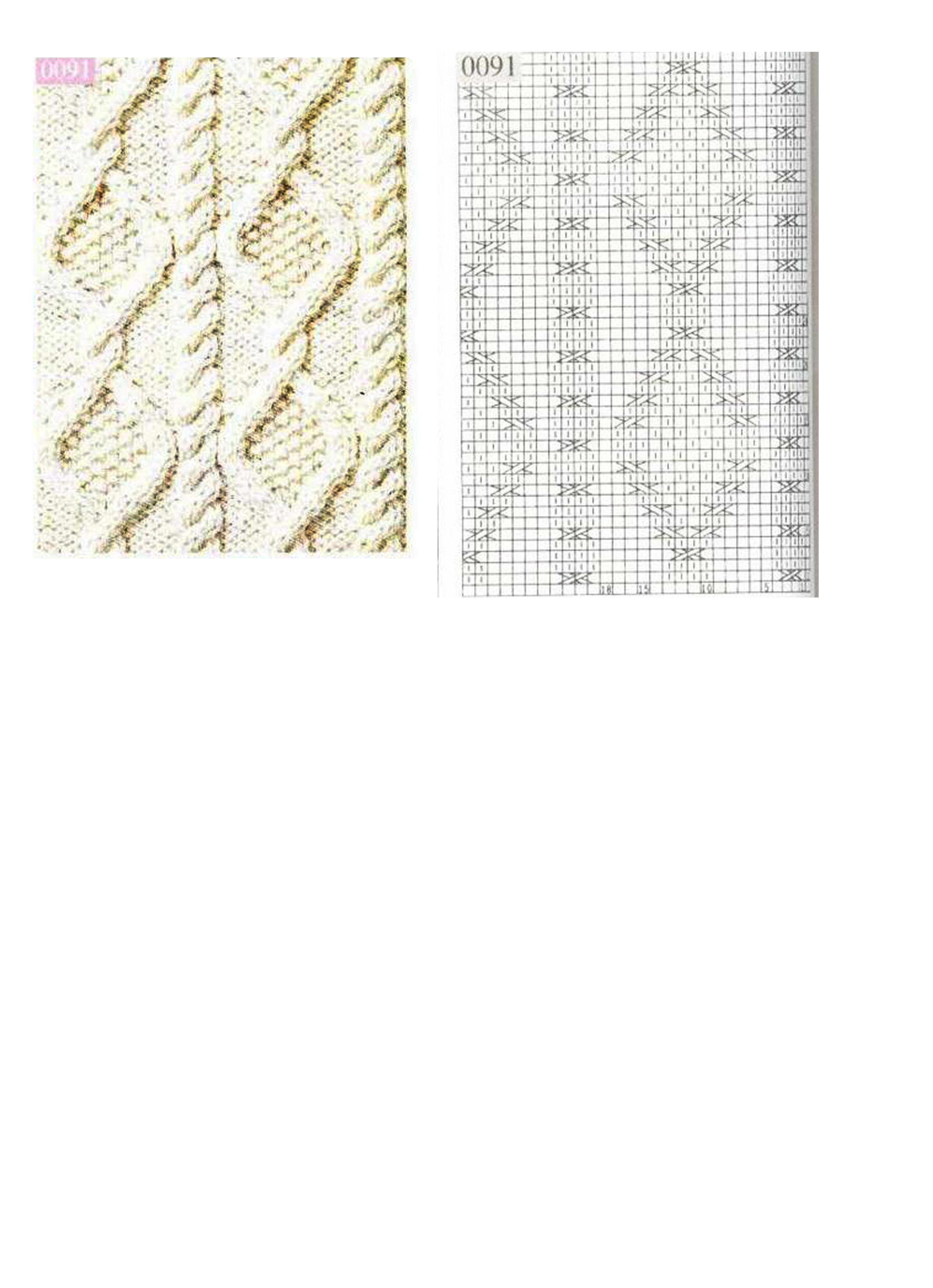 Вязание крупные ромбы спицами и жгуты красивые переплеты 11