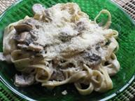 Тальятелли с грибами в сливочном соусе