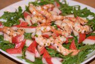 Салат из морепродуктов с руколой (Insalata di mare con la rucola)