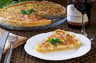 Киш с ветчиной и сыром (Quiche med skinke og ost)