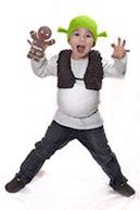 Карнавальный костюм Шрека, связанный крючком