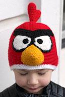 Шапка Angry Birds крючком