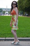 Платье с вязаным лифом