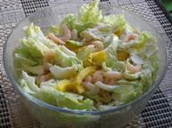 Салат с креветками, сладким перцем и сыром