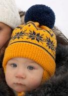 Зимняя шапочка с норвежским узором
