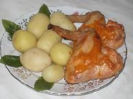Куриные крылышки в розовом соусе