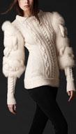 Шикарный вязаный свитер из зимней коллекции Burberry 2011