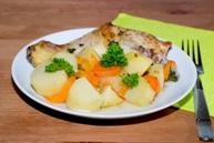Куриные ножки, запеченные с овощами