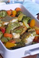 рыба под соусом Песто