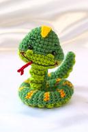 Змея-амигуруми - символ 2013 года